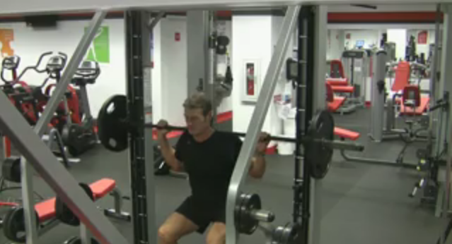 Smith Press Squat